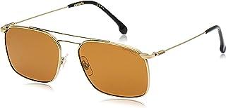 نظارة شمسية للجنسين من كاريرا، مستطيلة، 186/S، لون ذهبي