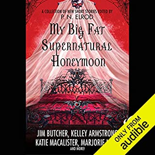 My Big Fat Supernatural Honeymoon                    Written by:                                                                                                                                 Rachel Caine,                                                                                        Kelly Armstrong,                                                                                        Jim Butcher                               Narrated by:                                                                                                                                 Jay Snyder,                                                                                        Christian Rummel,                                                                                        Khristine Hvam,                   and others                 Length: 12 hrs and 16 mins     Not rated yet     Overall 0.0