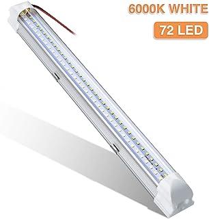 LED Interni Auto,AUDEW 72LEDs 12V 34.5cm Luci per Auto Interni Interruttore Striscia LED Decorazioni per Camper, Illuminazione Interna ,Plafoniera etc