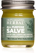 All Purpose Healing Salve Dry Itchy Skin Cracked Heels Hands and Feet Scrapes Bites, Minor Burns, Sunburn Care Natural First Aid Ointment Tea Tree Oil, Ora's Amazing Herbal Made In The USA Travel Size