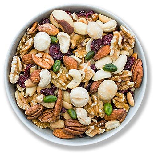 1001 Frucht Edle Nussmischung 250 g naturbelassene Nüsse veredelt mit Cranberrys ohne Zucker und ohne Zusätze vegan I Exklusiver Beeren Nuss-Mix I Frische gemischte Nüsse ungesalzen ungezuckert