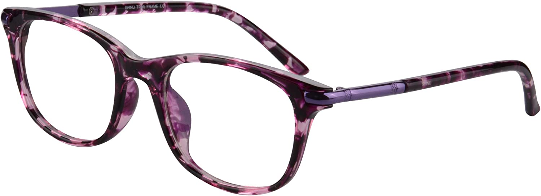 MEDOLONG Women's Challenge the lowest price Asymptotic Brand new Multifocal Rimmed Glasses Reade Horn