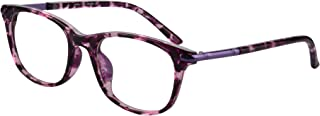 SHINU Horn Rimmed Readers Progressive Multifocus Computer Reading Glasses-SH017(Pink Demi,x2)