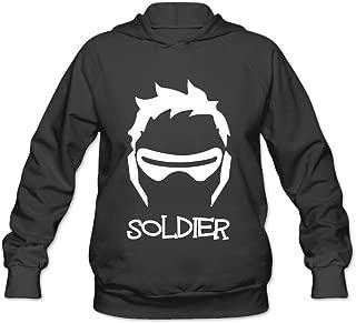 Overwatch Women's Soldier 76 Hoodies Sweatshirt Black