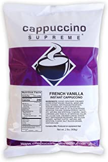 Cappuccino Supreme 2 lb bag French Vanilla Instant Cappuccino Mix