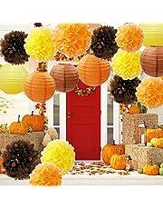 Furuix Decoraciones de Fiesta de Otoño, Decoraciones de Otoño, Paquete de Fiesta, Kit de Fiesta de Orange, Decoraciones de Fiesta de Acción de Gracias / Decoraciones de Fiesta de Cumpleaños
