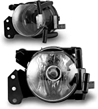 AUTOFREE Fog Light for 04-07 BMW 5 Series (E60/E61)/ 3 Series (E46) Coupe & Convertible 03-06 OEM Fog Lamps Aassembly 1 Pair with Bulbs 9006 12V55W(Clear Lens)