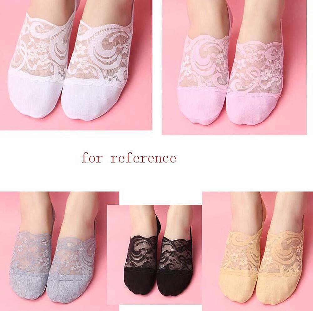Summer Comfort Socks Invisible Socks for Women (8 pairs), White&Skin Color