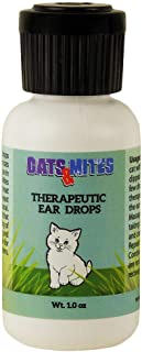 Cats n Mites Ear Drops for Demodex Mange, Yeast, Bacterial and Viral Infection of Inner and Outer Ears of Cats and Kittens – 1.0 OZ