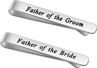 KUIYAI والد العريس والد العروس هدايا شكرا لك على رفع رجل أحلامي سوف أعتني بها دائما الزفاف ربطة العنق كليب الفولاذ المقاوم...