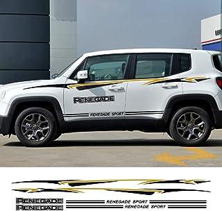 for Jeep Renegade Wrangler JK Rubicon Cherokee Patriot Trail Hawk Compass FSXTLLL Auto Adesivi Decorativi per Gonna Adesivi