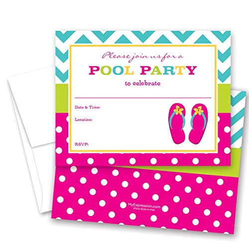 Kids Beach Party Invitations Amazon