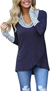 TOPUNDER 2018 Women O-Neck Blouse Stripe Long Sleeve Tops Sweatshirt Pullover Shirt