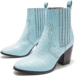 Autunno E in Inverno Moda Bottini Spessi Tallone Delle Donne Stivali in Pelle Antiscivolo Resistente Wear Boots Martin