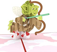 Star Wars Yoda Cupid Pop Up Card, 3D Card, Valentine's Day Card, Greeting Card