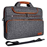 DOMISO 17 Zoll Wasserdicht Laptop Tasche Aktentasche Schultertasche Notebooktasche Business für 17-17.3' Notebook/Dell/Lenovo/Acer/HP/MSI/ASUS, Dunkelgrau