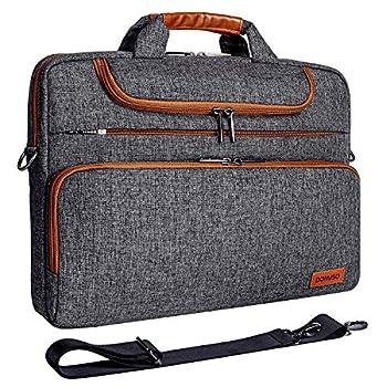 DOMISO 13.3 Inch Multi-Functional Laptop Sleeve Business Briefcase Waterproof Messenger Shoulder Bag for 13 -13.3  Laptops/MacBook Pro Retina/Dell XPS 13 / Surface Book/ASUS/Acer Dark Grey
