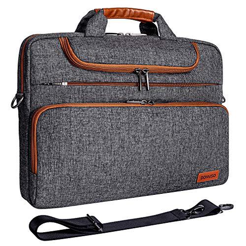 DOMISO 13-13,3 Zoll Wasserdicht Laptop Tasche Aktentasche Schultertasche Notebooktasche für 13.3