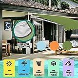 Writtian Sonnensegel Sonnenschutz Garten Balkon Wetterschutz wasserabweisend Rechteckig 210D PES UV-Schutz für Garten Outdoor Blau 2x1.5m