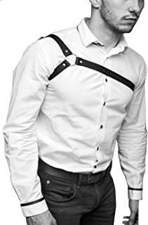 Men's Leather Chest Body Harness Belt Adjustable Buckle Straps Club Wear Costume
