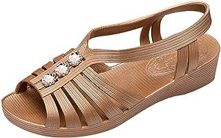 Sabots Hollow Out WINJIN Fille Tongs Femme Bottes de Pluie Chaussures Femme Ete Mules pour Femme Pantoufles Femme Chaussures de Plage Femme Femme Sandales
