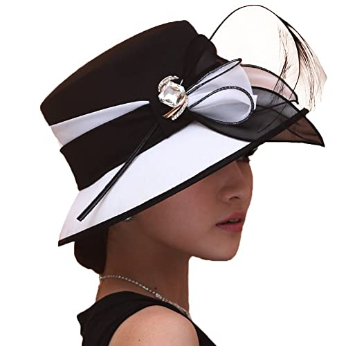 2cb534f14effc Women s Chiffon Weeding Hats Church Hats Derby Hats Occasion Event Party  Outfit Hat