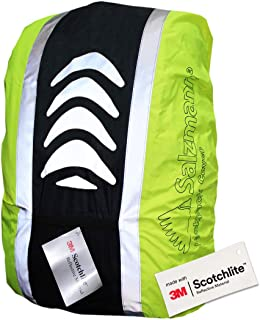 Salzmann 3M Reflective and Waterproof Backpack Cover, Made with 3M Scotchlite, Reflective Raincover for Backpacks
