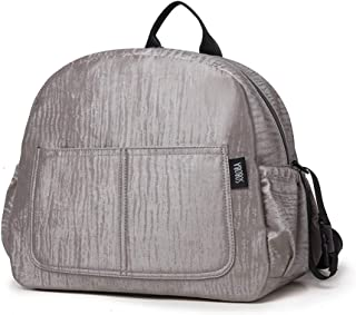 Redland Art New Diaper Backpack For Mother Waterproof Solid Large Capacity Multi-functional Nappy Changing Bag For Baby Care Gray (Color : Gray)