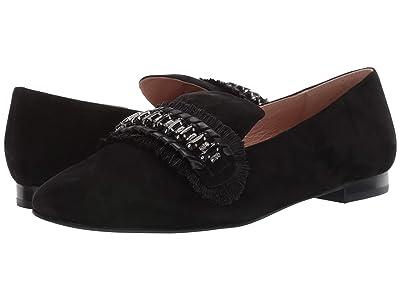 Jack Rogers Beatrix Jeweled Suede Loafer (Black) Women