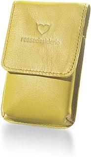 Portasigarette Slim Giallo in Vera Pelle Custodia per Pacchetto di Sigarette Sottili