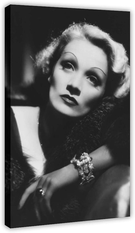 Póster de lona de Actor Marlene Dietrich 14 para decoración de dormitorio, deportes, paisaje, oficina, habitación, marco de regalo, 30 x 45 cm