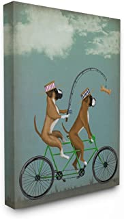 Stupell Industries Boxer Dogs Share a Bicycle Canvas Wall Art, 16 x 20, Multi-Color