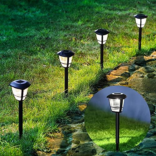 Aigostar 12 x Lámpara LED para exterior, resistente al agua, encendido y apagado automático, IP44
