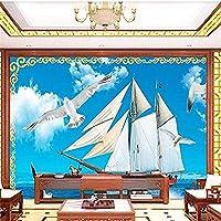 壁の壁画の壁紙の壁の装飾の写真の壁紙のための帆走カモメse3d壁紙壁画の寝室-200x140cm