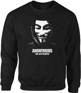 Tex-Ha Anonymous Hacker PC Collective Vendetta Gamer Fair Game Black Sweatshirt Pullover
