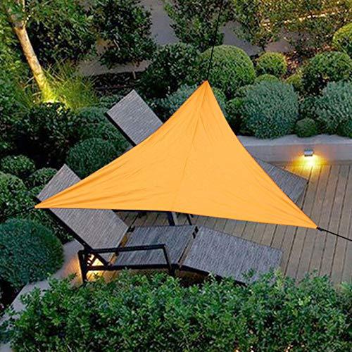 TETHYSUN Toldo de toldo triangular, toldo de tela para patio, exterior con cuerda para exteriores, patio, jardín, fiesta, piscina, 19.7 x 19.7 x 19.7 pies