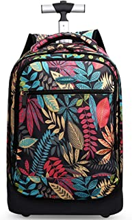 AUNLPB 20 Inch Backpack for Girl, Water Resistant Backpack Bag, Wheeled Rolling Trolley for School, Office, or Travel