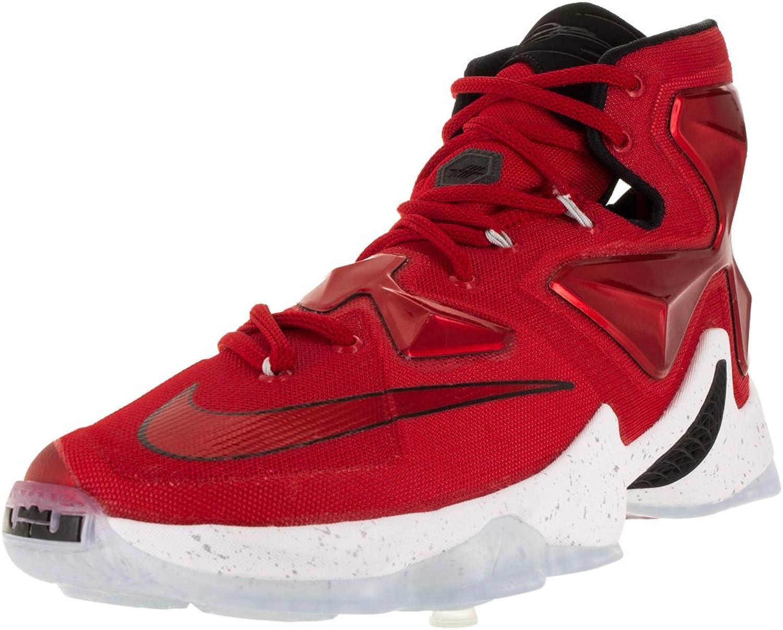 Nike herrar Lebron XIII Unvresty Unvresty Unvresty röd  vit  Blk  Lsr Orng Basketball skor - 11 D (M) USA  fantastiska färgvägar