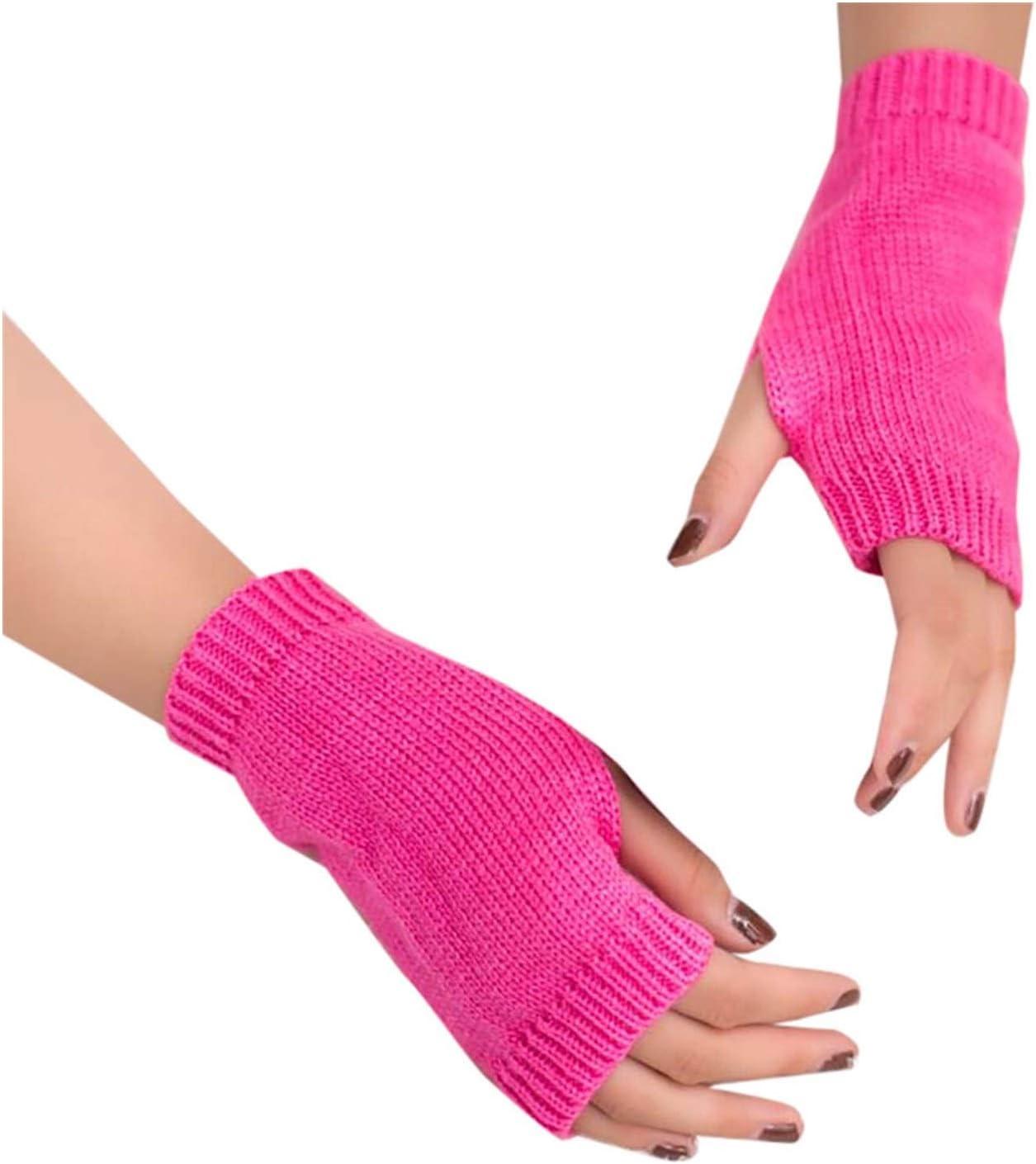 ZZTT Autumn and Winter Gloves 1 Pair of Cold-Proof Gloves Distaff Ladies Wrist Gloves Distaff Knitted Arm Fingerless Winter Warm Gloves Soft Warm Gloves Warm and Comfortable Gloves for Men or Momen