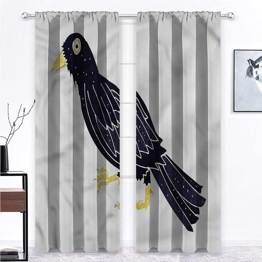 Kids Daily bargain sale Blackout Curtains Bird for Room Quirky Challenge the lowest price of Japan Cart Funny Gathering