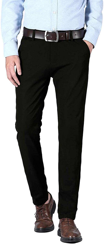 PlaidPlain Men's Slim Phoenix Mall Fit Stretch Dress Pants Great interest