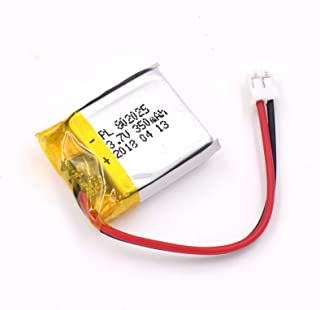 YDL 3.7V 350mAh 802025 Lipo battery Rechargeable Lithium Polymer ion Battery Pack with JST Connector