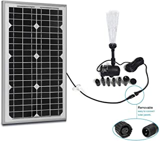 PowerEZ Solar Water Pump Kit-410GPH+Submersible Pump and 30 Watt Mono Solar Panel for Sun Powered Fountain, Waterfall, Pond Aeration, Hydroponics, Aquarium, Aquaculture (No Battery Backup)