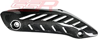 Ducati Monster 821 1200 1200S 1200 R Carbon Fiber Upper Mid-pipe Exhaust Guard Cover Protector Panel Fairing
