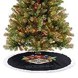 Alfombra para árbol de Navidad Hispanic Holiday La Calavera de la Catrina Inspirada en el peinado y ...
