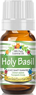 Pure Gold Holy Basil Essential Oil, 100% Natural & Undiluted, 10ml