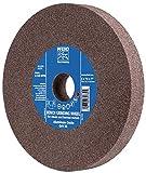 PFERD 61742 Bench Grinding Wheel, Aluminum Oxide, 6' Diameter, 3/4' Thick, 1' Arbor Hole, 80 Grit, 4140 Maximum RPM