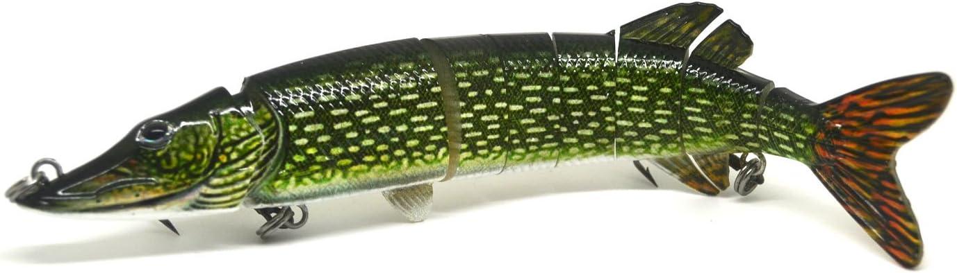 "7/"" Northern Pike Muskie Fishing Lure Bait Swimbait Life-like Brook Trout NEW"