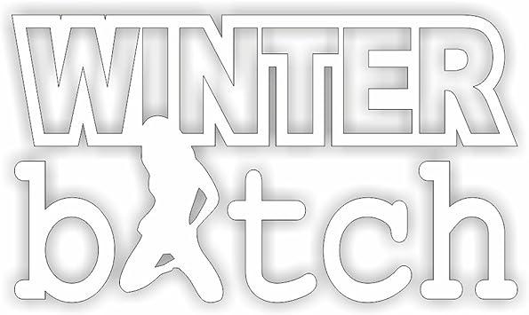 Folien Zentrum Winter Bitch Winterauto Schnee Snow Shocker Hand Auto Aufkleber Jdm Tuning Oem Dub Decal Stickerbomb Bombing Fun W Schwarz Schwarz Schwarz Schwarz Weiß Auto
