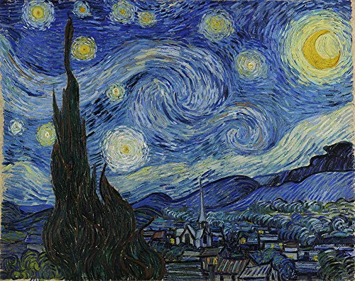 Vincent Van Gogh Giclee Arte Carta Stampa Opere d'Artee Dipinti Poster Riproduzione(Notte Stellata)
